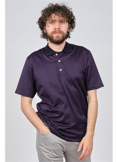 Arslanlı Arslanlı Erkek Polo Yaka T-Shirt  Mor